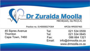 Zuraida Business Card